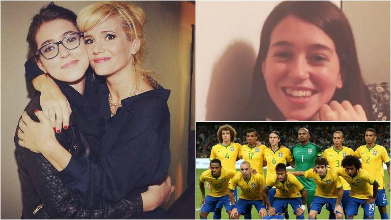 Leticia Siciliani hincha por Brasil