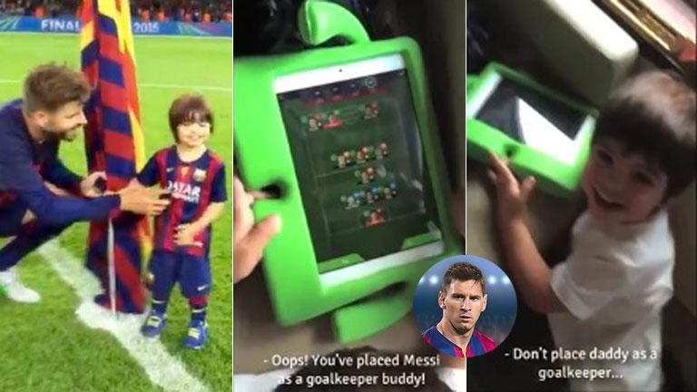 ¡El plantel de Milan! El hijo de Shakira y Gerard Piqué: ¿prefiere a Messi antes que a su padre?