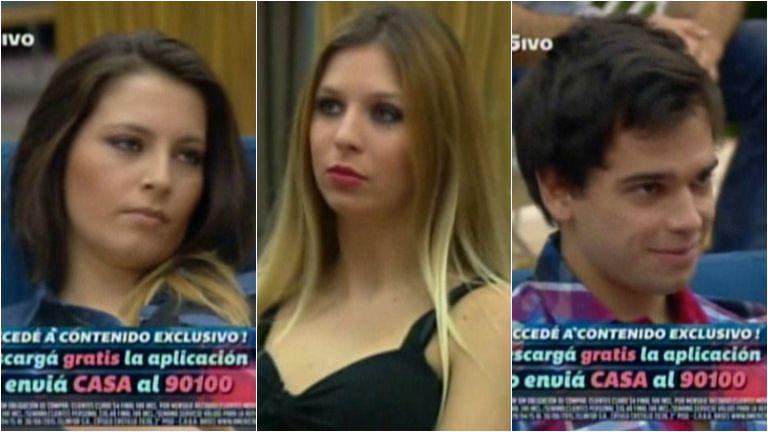 Romina, Angie y Matías, los últimos eliminados de Gran Hermano 2015