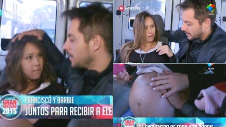 El reencuentro de Francisco Delgado y Barby Silenzi a minutos de ser papás