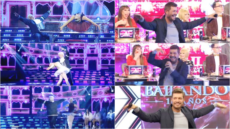 Show de gestos de Tinelli mientras bailaba Samid