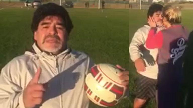 Diego Maradona, al borde del llanto, habló de su estado anímico