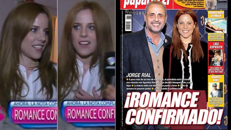 La reacción de Agustina Kämpfer en Desayuno Americano al ver la tapa de Paparazzi con la confirmación de su romance con Jorge Rial