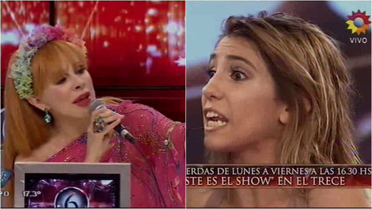 El cruce de Nacha Guevara con Cinthia Fernández en ShowMatch