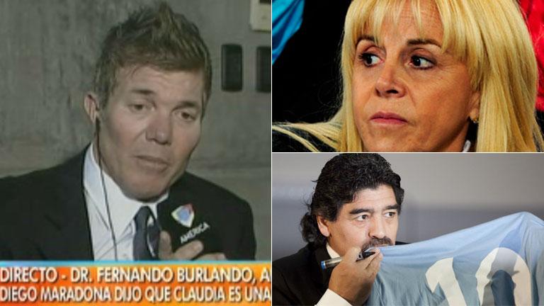 Burlando, sobre las exigencias de Maradona:
