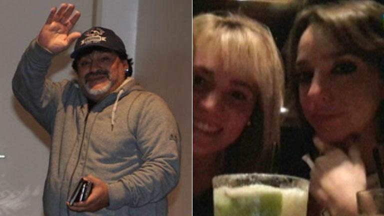 Mientras Maradona se iba a Dubai... Rocío Oliva salió a tomar algo con Tamara Pettinato