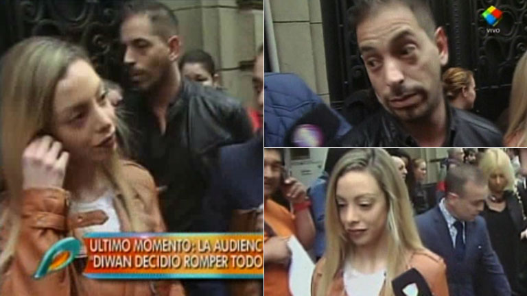 El incómodo cruce de Gisela Bernal y Ariel Diwan en Tribunales: sus reacciones
