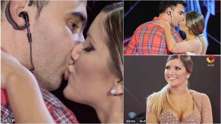 Federico Hoppe y Laurita Fernández se dieron un beso en ShowMatch