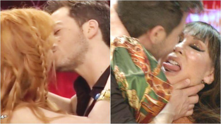 El beso de Fer Dente con Moria Casán y Nacha Guevara en ShowMatch