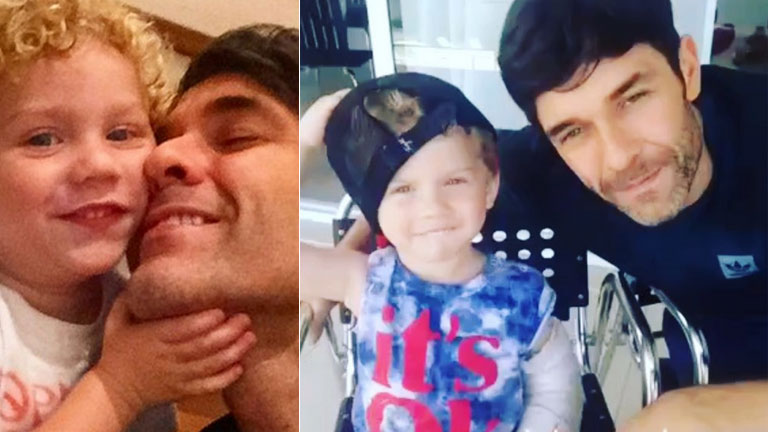 El tierno video de Mariano Martínez cantando con su hijo Milo