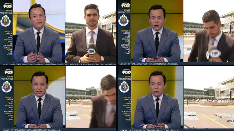 ¡Tremendo momento en vivo! Un periodista de Fox Sports fue atropellado durante en móvil