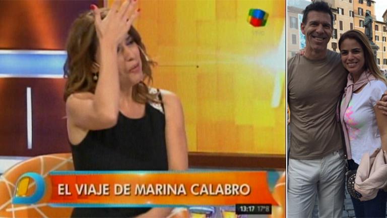 La reacción de Marina Calabró cuando le preguntaron en Intrusos por el pequeño 'gran' detalle de la foto del novio