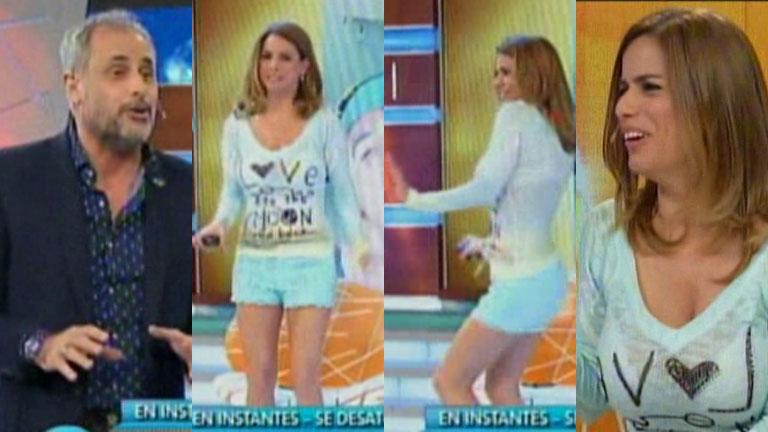 Marina Calabró y un mini short para el infarto en Intrusos