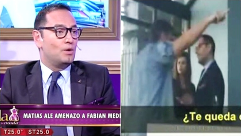 Matías Alé increpó a Fabián Medina Flores a la salida del programa La jaula de la moda
