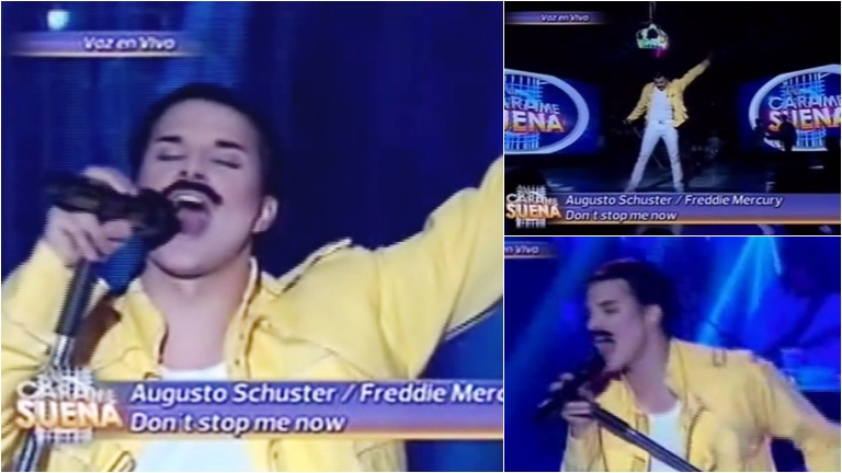Augusto Schuster fue Freddie Mercury en Tu cara me suena