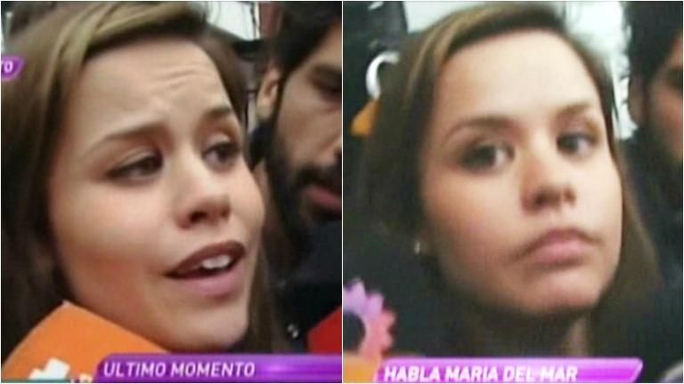 María del Mar habló tras salir de la comisaría