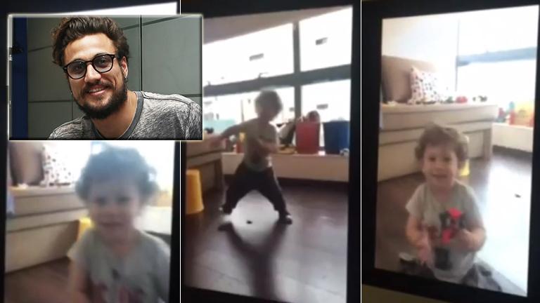 Daniel Osvaldo y una divertida videollamada con su hijo: