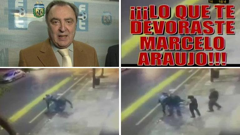 El video del accidente callejero de Marcelo Araujo según Crónica TV