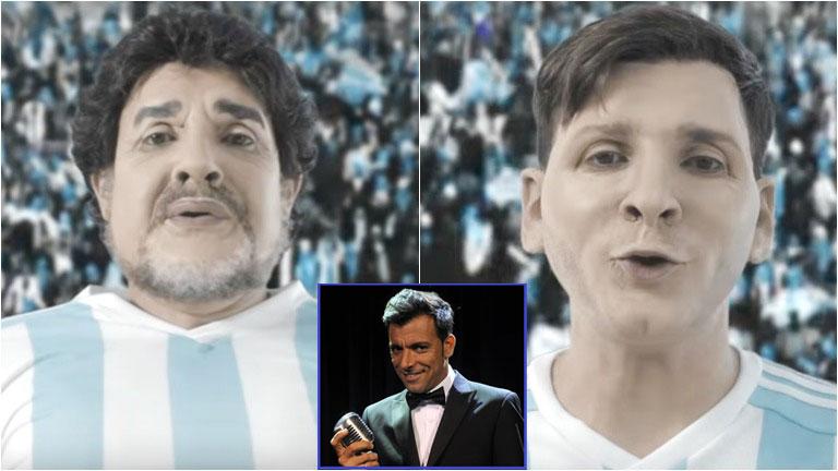 Bossi volvió a personificar a Maradona y Messi y los ídolos se metieron de lleno en el ballotaje: ¡mirá el desopilante sketch!