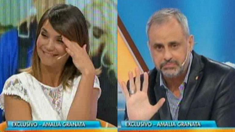 Amalia Granata y un comentario pícaro a Jorge Rial en vivo