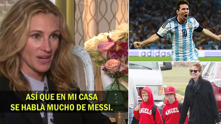 Julia Roberts habló del fanatismo de sus hijos por Messi en TN: