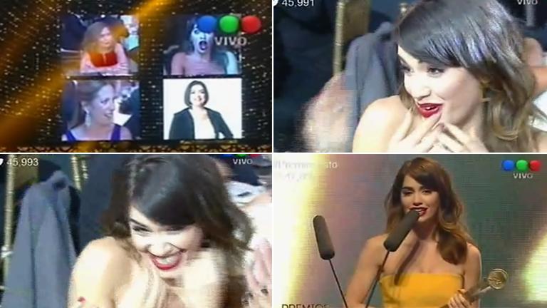 Lali Espósito, mejor actriz protagónica en los Premios Tato: mirá el video con su espontánea reacción al ganarlo y la dedicatoria a Mariano Martínez