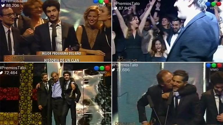 Historia de un clan arrasó en los Premios Tato: se llevó 12 en total y Alejandro Awada con su discurso fue la perlita de la noche