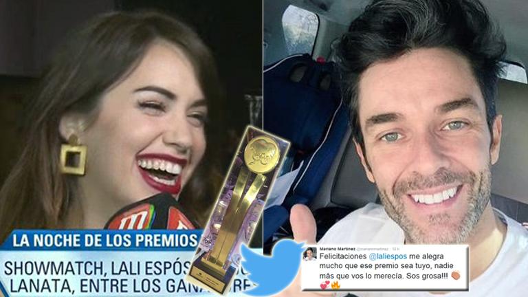El tweet de Mariano Martínez a Lali y la pícara confesión de la actriz: