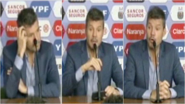 La conferencia de prensa de Tinelli, tras el escándalo en las elecciones de la AFA