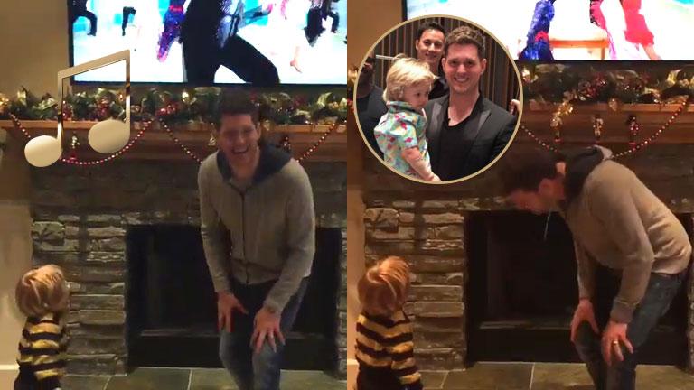 Michael Bublé y un divertido video bailando con Noah