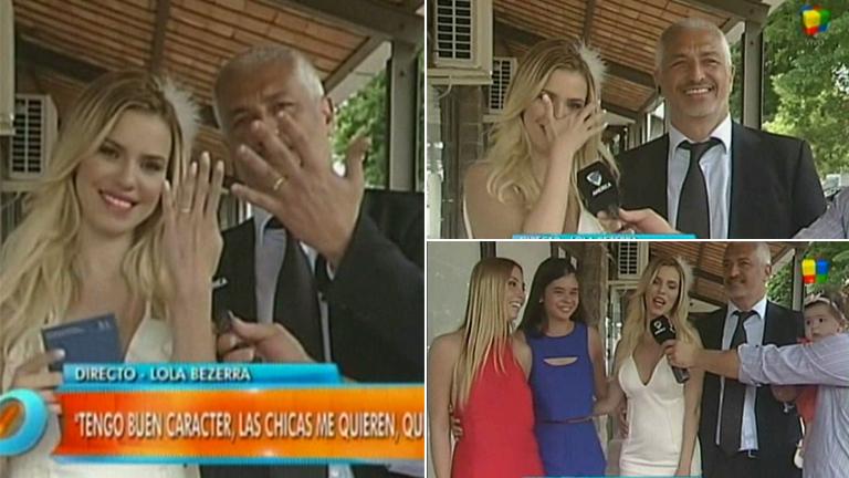 Lola Bezerra se casó y 'apuró' a su flamante marido en vivo en Intrusos: