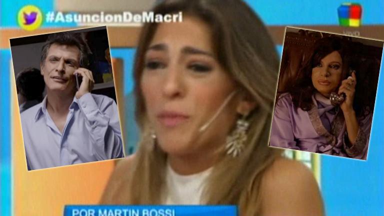 La emoción de Natalia Franzoni al ver la parodia de Bossi, a horas del traspaso presidencial: