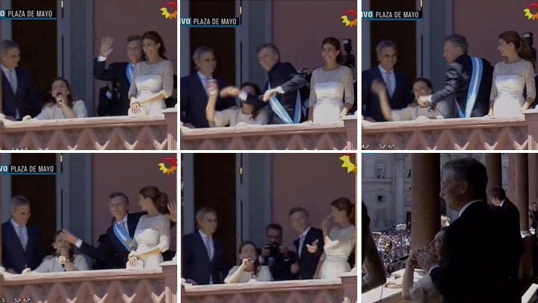 El baile de Macri y el canto de Michetti desde el balcón presidencial que hizo furor en Twitter