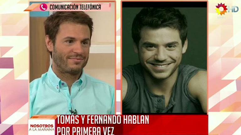 Así fue la reconciliación en vivo de de Tomás y Fernando Dente en Nosotros a la mañana