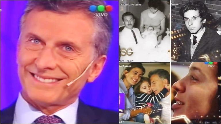 El video que emocionó a Mauricio Macri en el living de Susana Giménez
