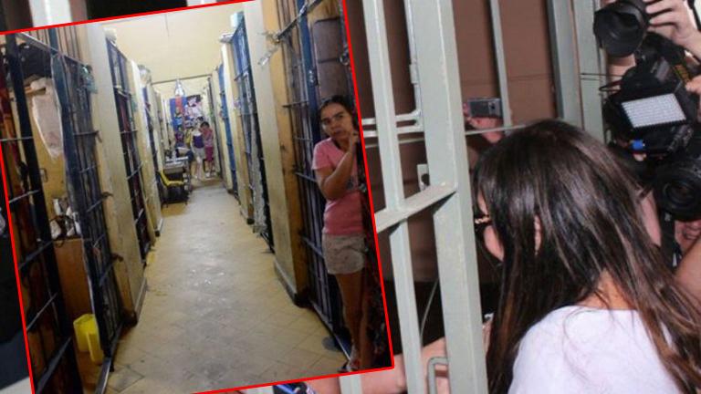 El video con el recibimiento a Moria Casán en la cárcel de Paraguay