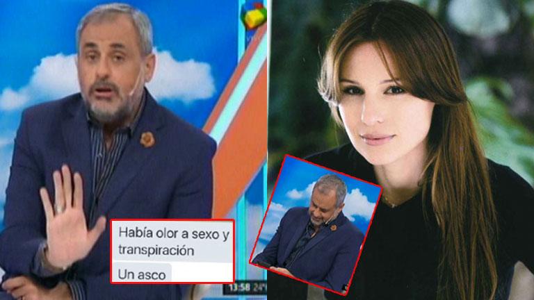 Jorge Rial y un tenso mensaje a Pampita en Intrusos