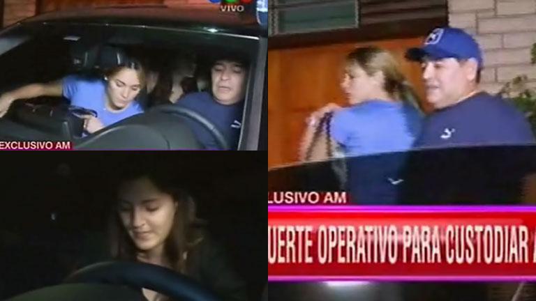 Diego Maradona volvió al país: el video