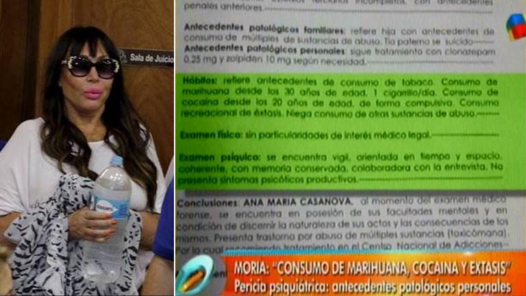 El video con los detalles de la pericia psiquiátrica de Moria Casán