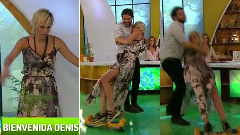 Denise Dumas debutó en La mesa está lista y protagonizó un divertido blooper
