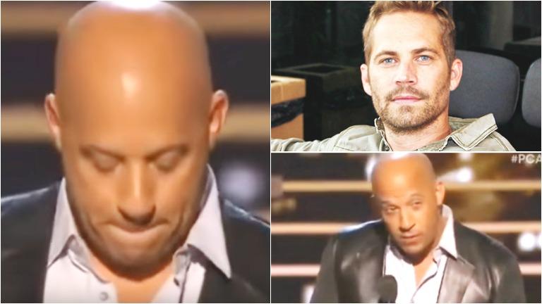 Vin Diesel recordó a Paul Walker al recibir un premio por Rápido y Furioso 7