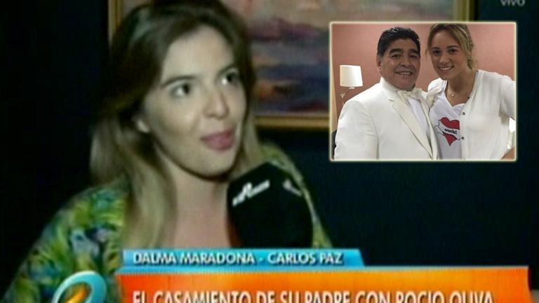 La palabra de Dalma Maradona ante el casamiento de Diego y Rocío Oliva: