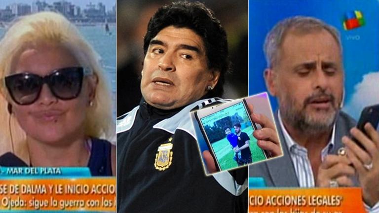 La inesperada foto que mostró Rial que puede hacer estallar de furia a Maradona