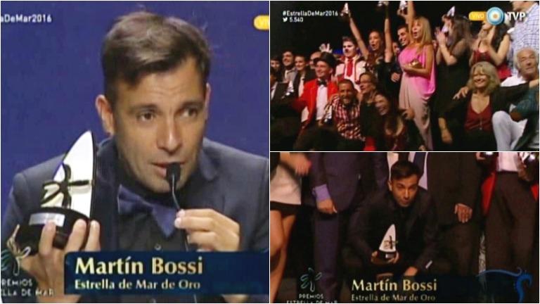 Martín Bossi, ganador del Premio Estrella de Mar de Oro 2016
