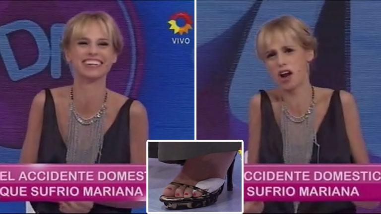 El doloroso accidente doméstico de Mariana Fabbiani: