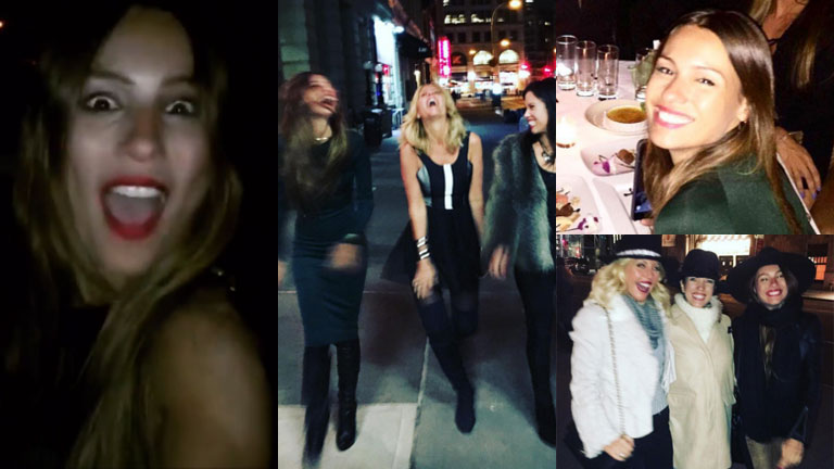 Pampita se divirtió en un boliche de Nueva York