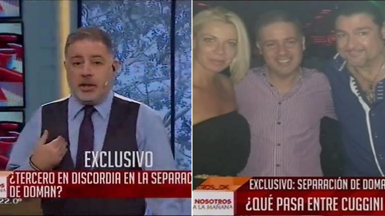 Fabián Doman, molesto con Fabio Cuggini, en su programa: