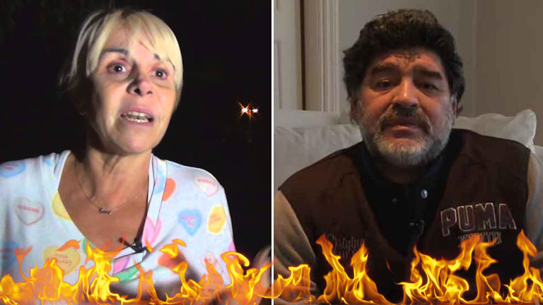Claudia Villafañe reveló el motivo de la furia de Maradona:
