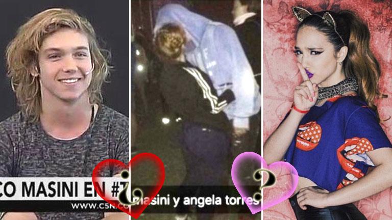 """Franco Masini habló de su foto infraganti con Ángela Torres: """"Tenemos la mejor onda"""""""