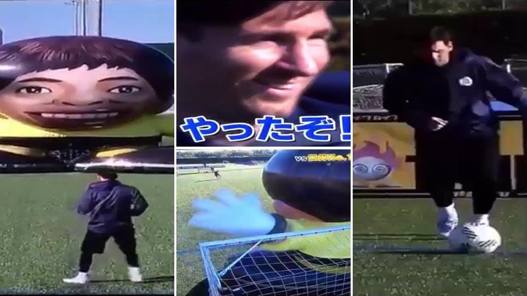 Lionel Messi superó el desafío de la televisión japonesa